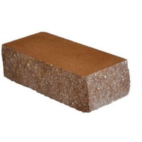 Облицовочный кирпич декоративный ложковый коричневый М-200