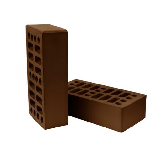 Кирпич Нерехтский лицевой одинарный пустотелый темный шоколад
