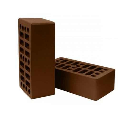 Кирпич Нерехтский лицевой утолщенный пустотелый темный шоколад
