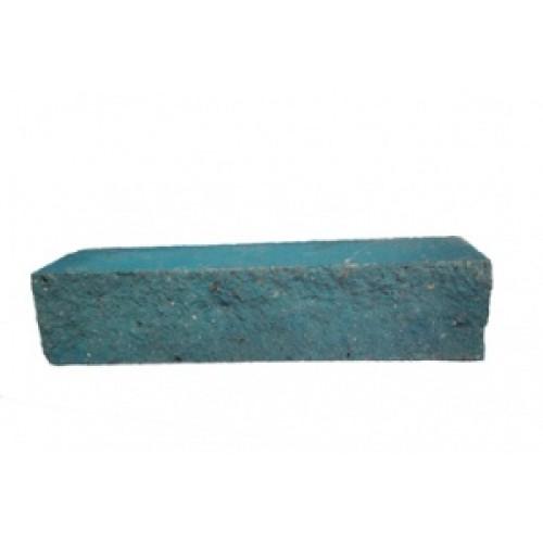 Облицовочный кирпич угловой голубой М-200