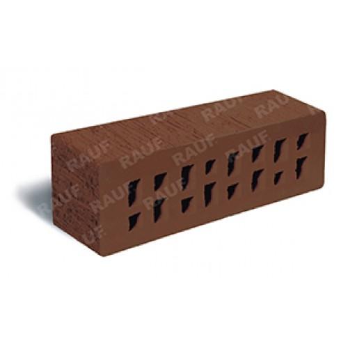 Клинкер лицевой коричневый «Мюнхен» с рельефной поверхностью «Тростник»