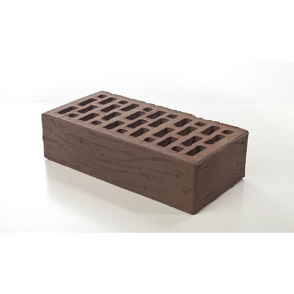 Лицевой керамический кирпич Braer темно-коричневый риф 1 НФ