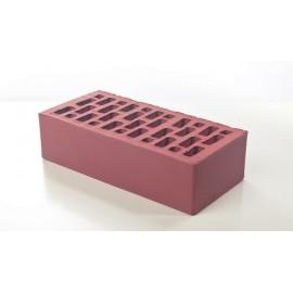 Лицевой керамический кирпич Braer светло-бордовый гладкий 1 НФ