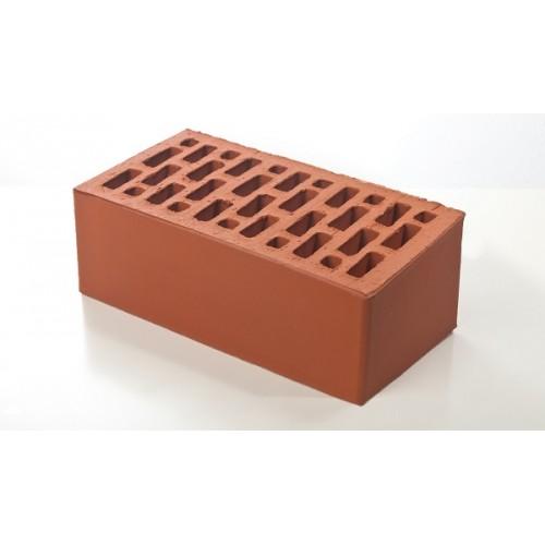Лицевой керамический кирпич Braer красный гладкий 1,4 НФ